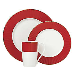 Lenox® Pleated Colors 3-Piece Place Setting in Red