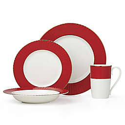 Lenox® Pleated Colors Dinnerware Collection in Red