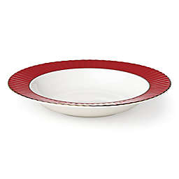 Lenox® Pleated Colors Rim Soup Bowl in Red