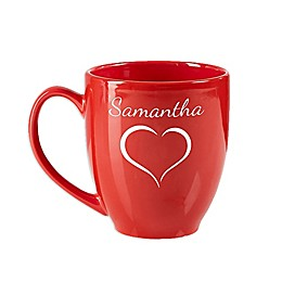 Valentine Cheer 14.5 oz. Red Bistro Mug