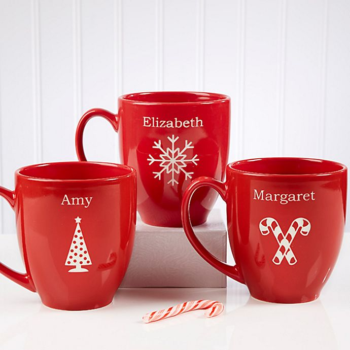 Alternate image 1 for Holiday Cheer 14.5 oz. Red Bistro Mug