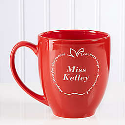 Inspiring Dreams 14.5 oz. Red Bistro Mug