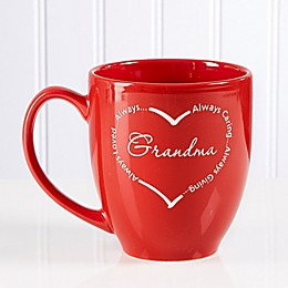 Always Loved 14.5 oz. Red Bistro Mug