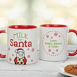 Milk For Santa 11 oz. Photo Christmas Mug in Red