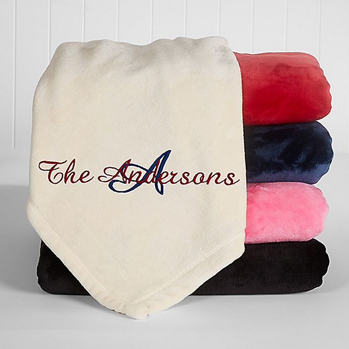 Alternate image 1 for Initially Yours 50-Inch x 60-Inch Fleece Throw Blanket