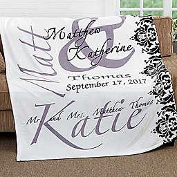 The Wedding Couple Fleece Throw Blanket