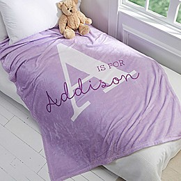 Alphabet Fun Fleece Throw Blanket