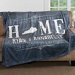 """State"" of Love Fleece Throw Blanket"