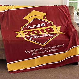 Class Of...Graduation 50-Inch x 60-Inch Fleece Throw Blanket