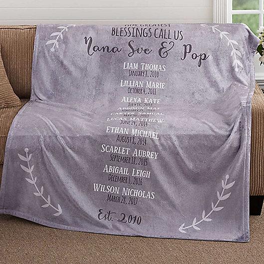 Alternate image 1 for Our Grandchildren 50-Inch x 60-Inch Fleece Throw Blanket