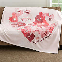 Our Hearts Combined 50-Inch x 60-Inch Fleece Throw Blanket