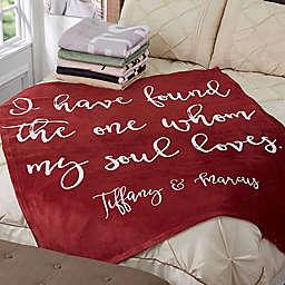 Romantic Expressions 50-Inch x 60-Inch Fleece Throw Blanket