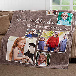 They're Worth Spoiling 60-Inch x 80-Inch Fleece Throw Blanket