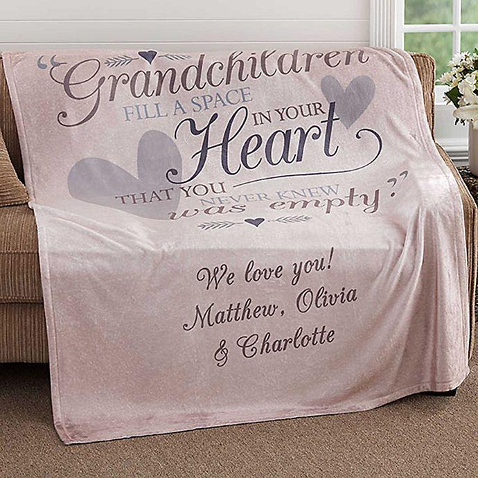 Alternate image 1 for Grandparents 60-Inch x 80-Inch Fleece Throw Blanket