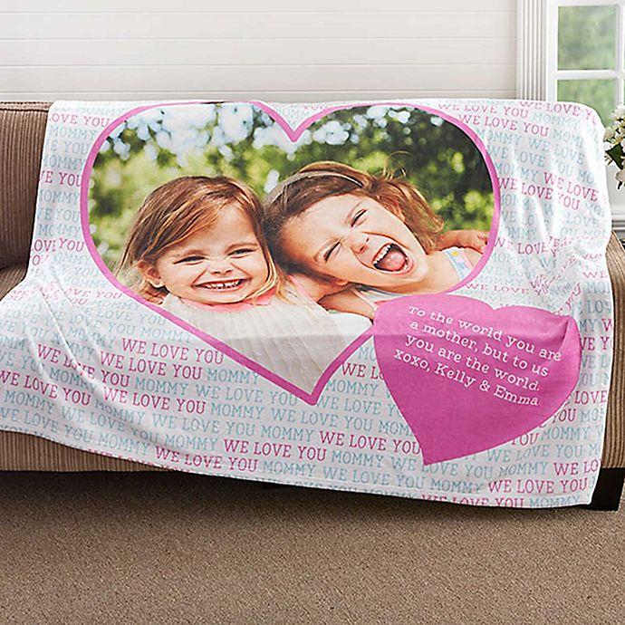 Love You This Much 50 Inch X 60 Inch Fleece Throw Blanket Bed Bath