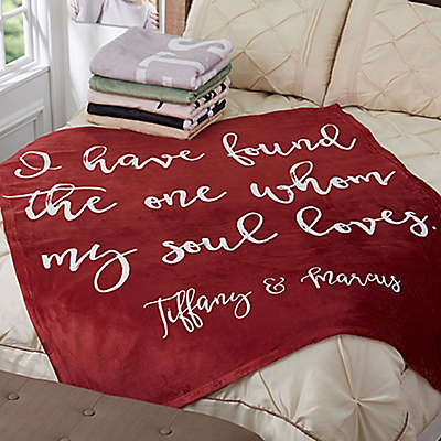 Romantic Expressions 60-Inch x 80-Inch Fleece Throw Blanket