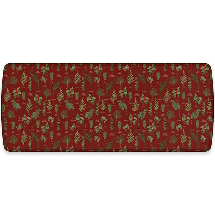 Alternate image 1 for GelPro® Elite Winter Greens 30-Inch x 72-Inch Kitchen Mat in Currant