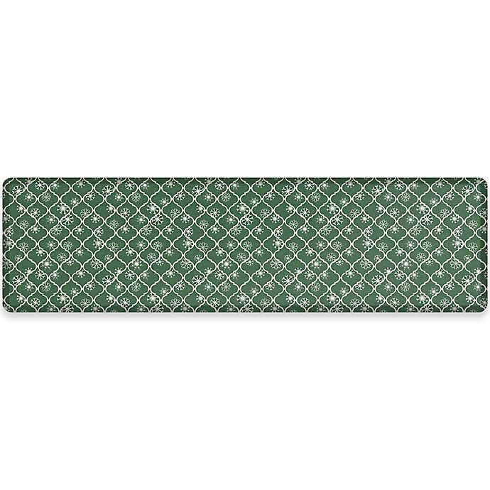 Alternate image 1 for NewLife® by GelPro® Designer Comfort 30-Inch x 108-Inch Holiday Trellis Mat in Balsam