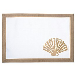 Shell Canvas Placemat in Natural