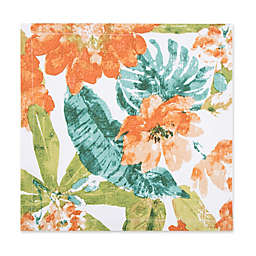 Tropical Floral Canvas Placemat in Orange/Green