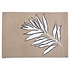 Palm Leaf Canvas Placemat in Taupe