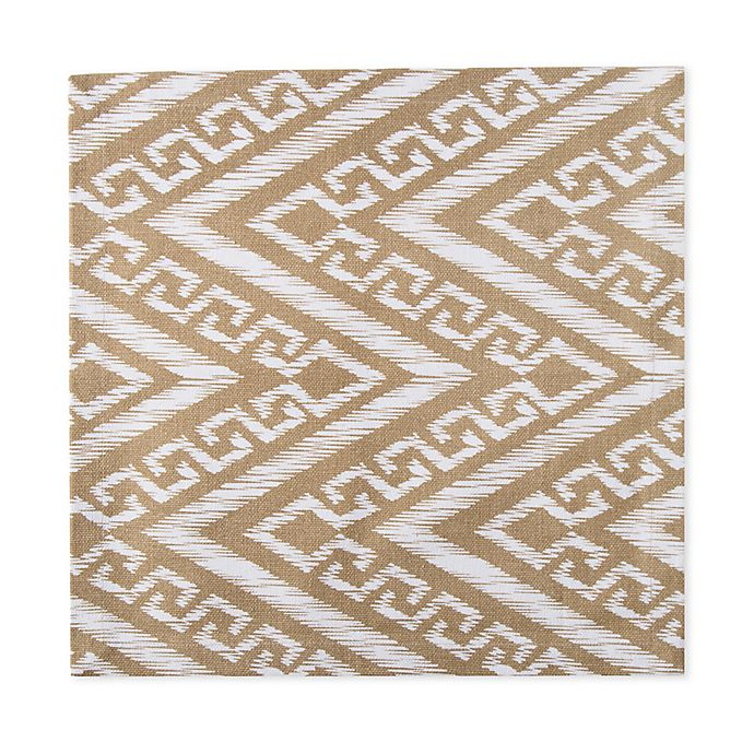 Alternate image 1 for Chevron Canvas Placemat in Taupe
