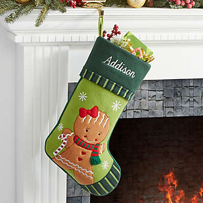 Gingerbread Family Christmas Family Stocking