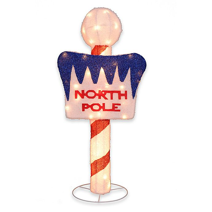 Alternate image 1 for 42-Inch LED Lighted North Pole Sign