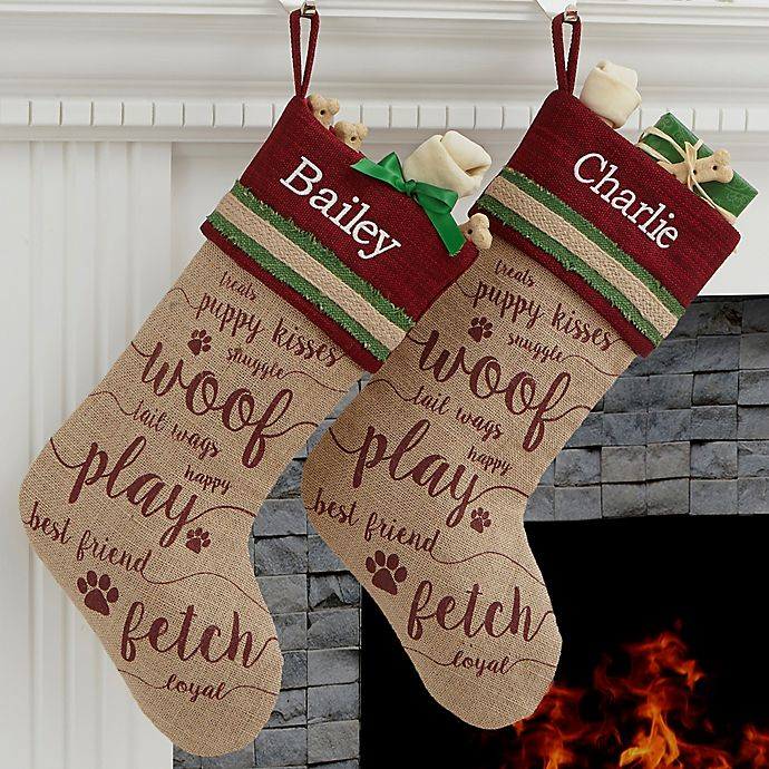 Alternate image 1 for Merry Paws Christmas Stocking
