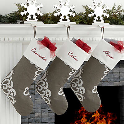 Silver Luxe Christmas Stocking