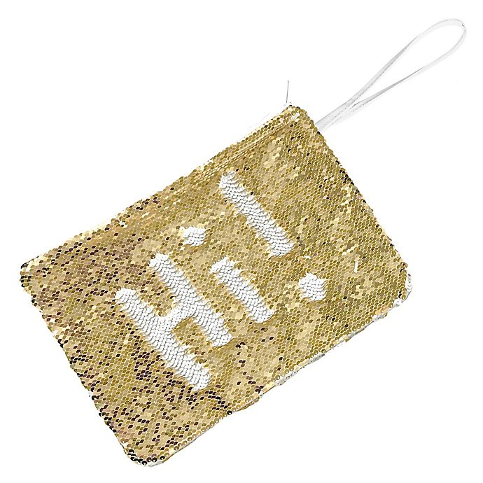 Alternate image 1 for Morgan Home 2-Way Sequin Swimsuit Sack in White/Gold