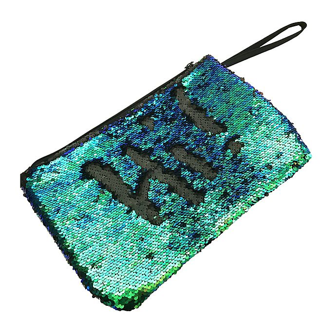 Alternate image 1 for Morgan Home 2-Way Sequin Swimsuit Sack in Green/Black