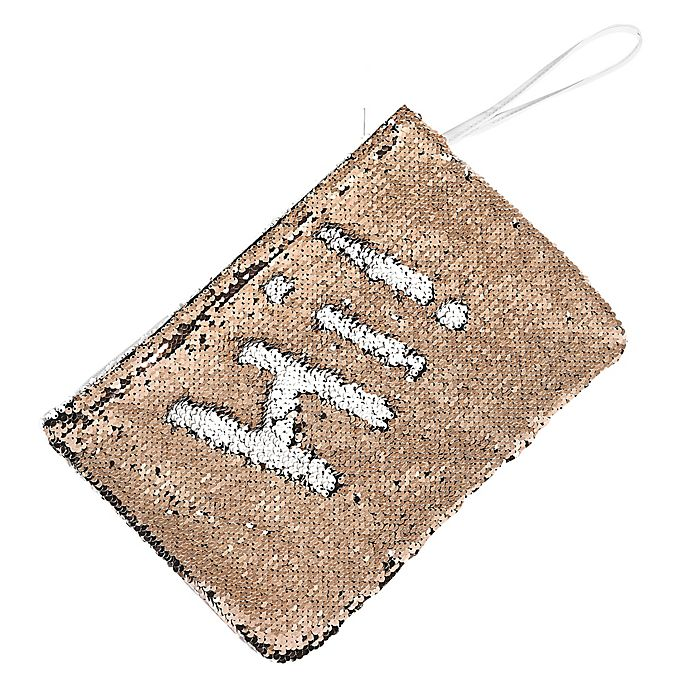 Alternate image 1 for Morgan Home 2-Way Sequin Swimsuit Sack in Rose Gold/White