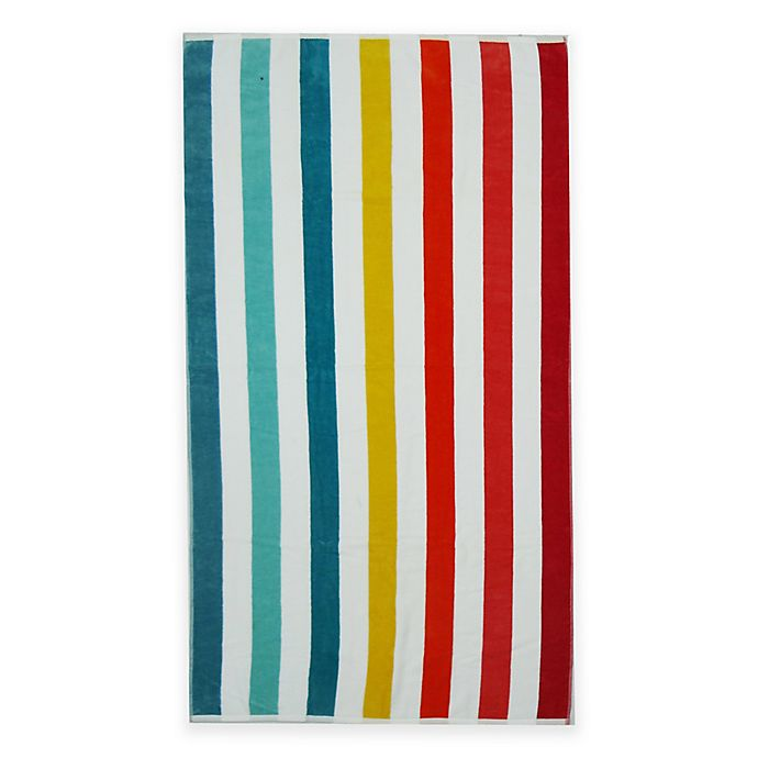 Alternate image 1 for Awning Stripe Beach Towel