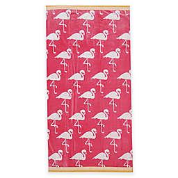 Pink Flamingos Beach Towel