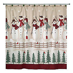 Avanti Snowmen Gathering Shower Curtain