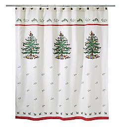 Avanti Spode Tree Shower Curtain Collection in Red