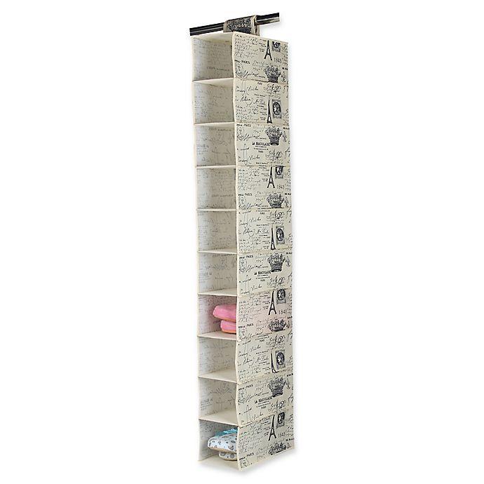Alternate image 1 for Home Basics® Paris 10-Shelf Hanging Closet Organizer
