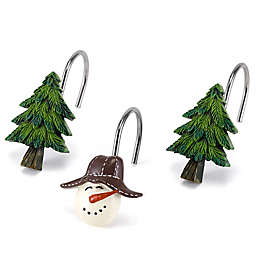 Avanti Snowmen Gathering Shower Curtain Hooks Set Of 12