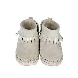 Robeez® Soft Soles™ Size 0-6M Cozy Ankle Moccasins in Grey