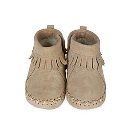 Robeez® Soft Soles™ Cozy Ankle Moccasins in Taupe