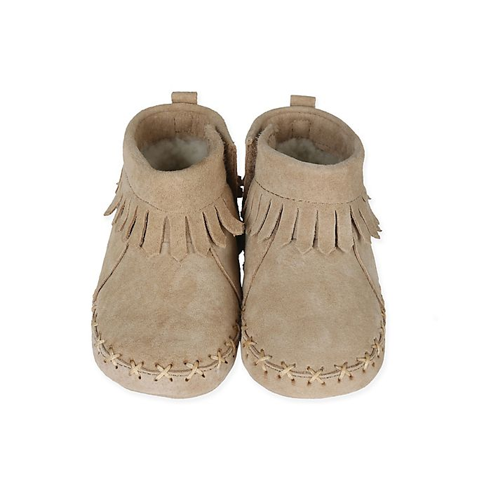 8e8d10b35e5a Robeez® Soft Soles™ Cozy Ankle Moccasins in Taupe