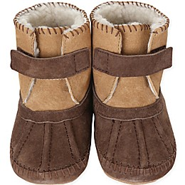 Robeez® Soft Soles™ Galway Cozy Bootie in Brown