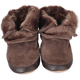 Robeez® Soft Soles™ Cozy Ankle Bootie in Brown