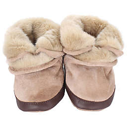 Robeez® Soft Soles™ Cozy Ankle Bootie in Taupe