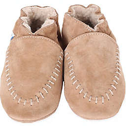 Robeez® Soft Sole Cozy Moccasin in Taupe