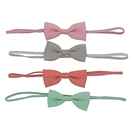 So'dorable 4-Pack Baby Bow Headband in Pink /Grey/Coral/Mint