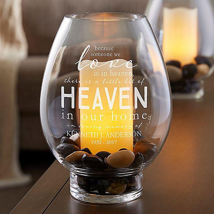 Alternate image 1 for Heaven In Our Home Glass Hurricane Holder