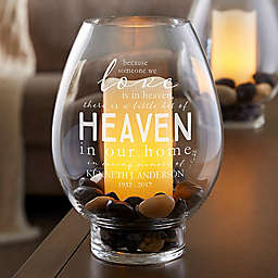 Heaven In Our Home Glass Hurricane Holder