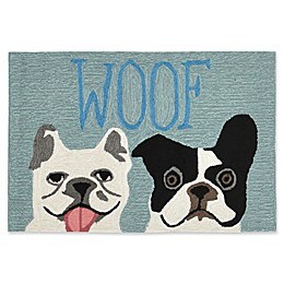 Liora Manne Le Woof Indoor/Outdoor Accent Rug in Blue